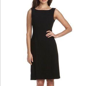 Tahari ASL Classic Black Sheath Dress